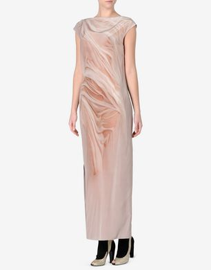 Maison Margiela Nude' effect trompe l'œil dress