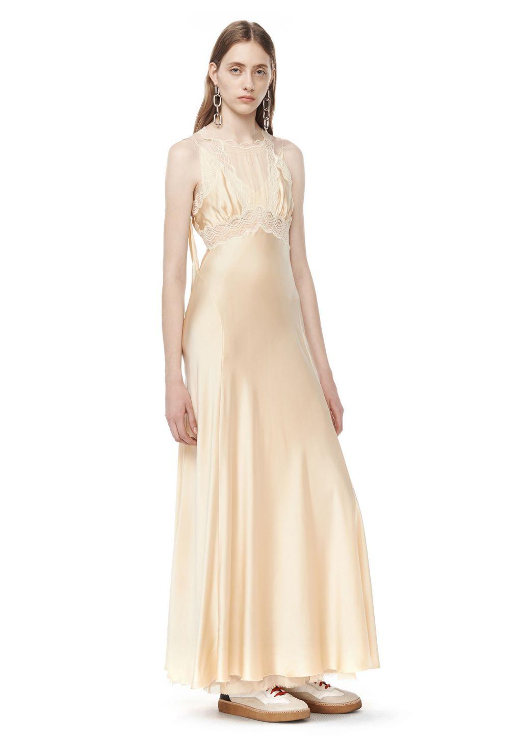 RUNWAY DECONSTRUCTED SILK DRESS | Long Dress