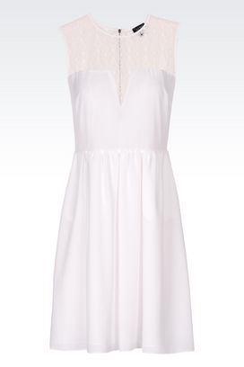 Armani Short Dresses Women dress in crêpe