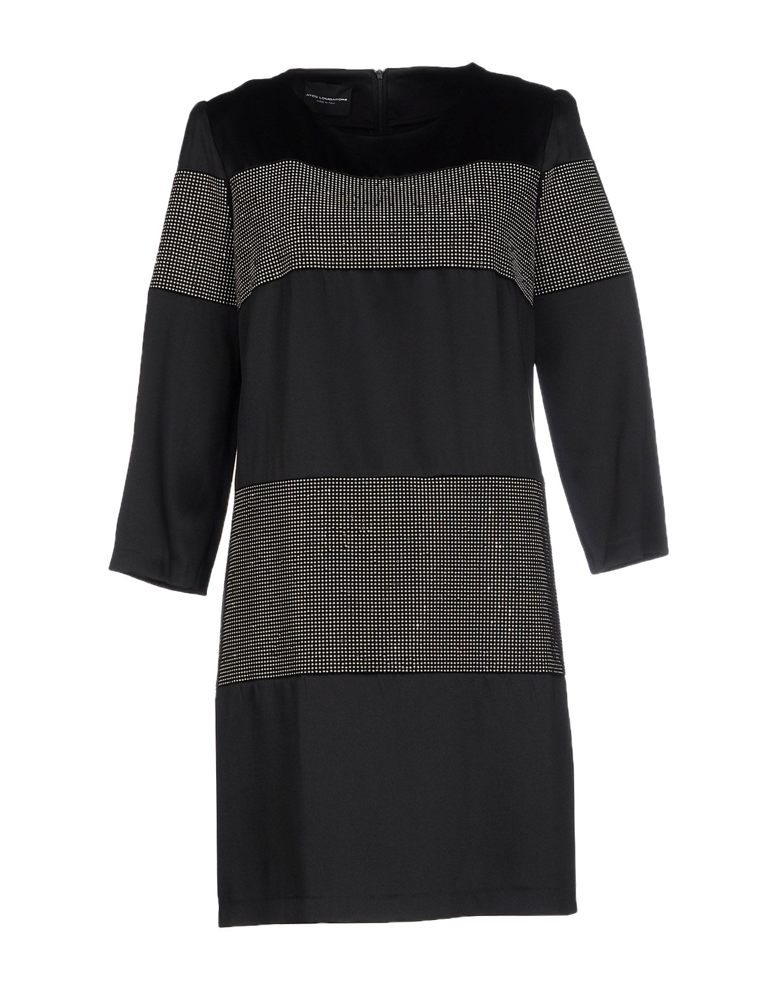 ATOS LOMBARDINI Damen Kurzes Kleid Farbe Schwarz Größe 5