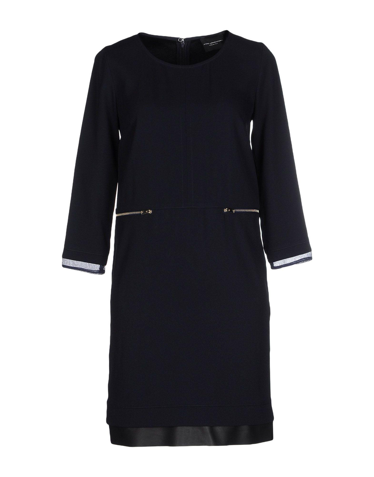 ATOS LOMBARDINI Damen Kurzes Kleid Farbe Dunkelblau Größe 2