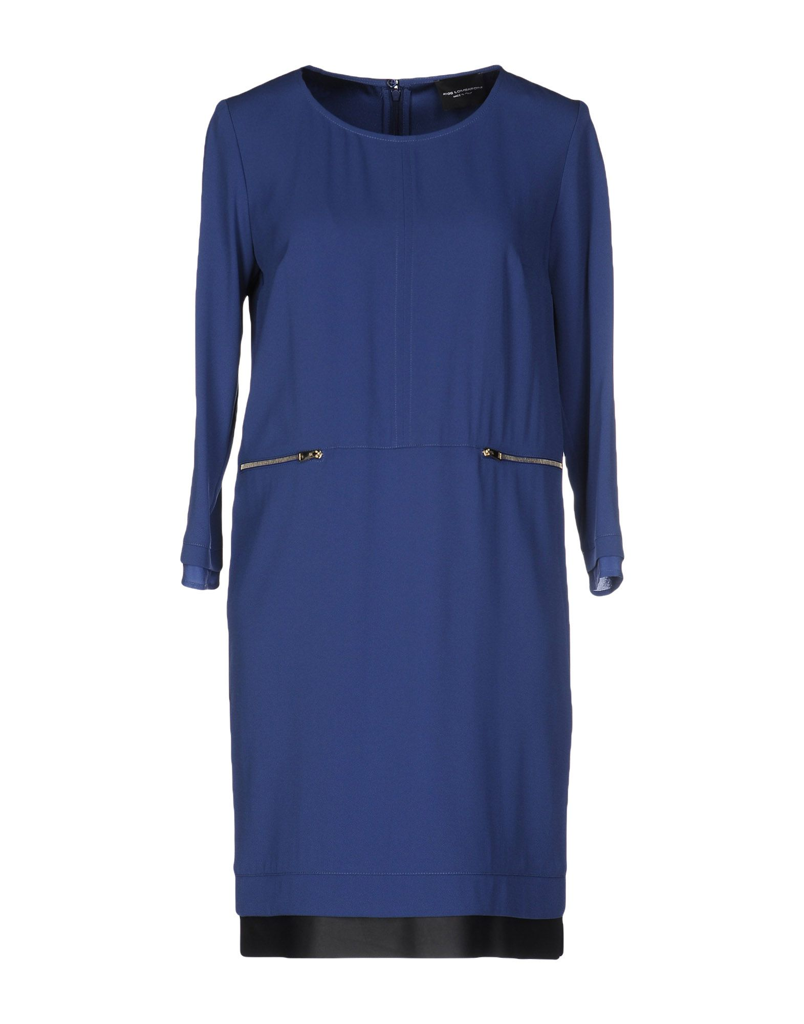 ATOS LOMBARDINI Damen Kurzes Kleid Farbe Blaugrau Größe 2