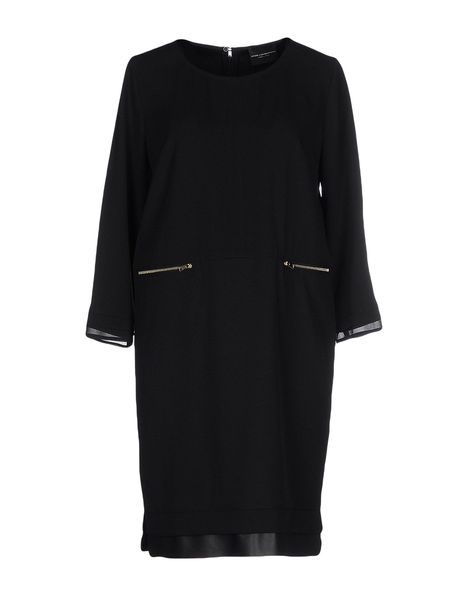 ATOS LOMBARDINI Damen Kurzes Kleid Farbe Schwarz Größe 6