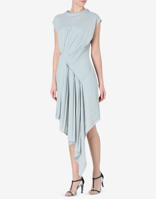 Maison Margiela Pleated asymmetric midi dress