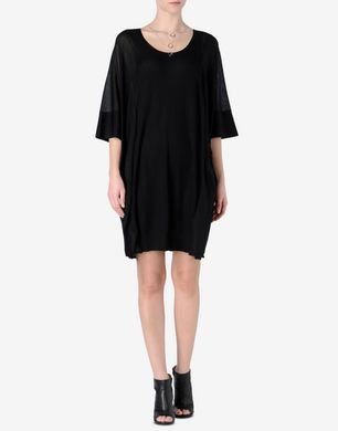 Maison Margiela Trompe l'œil silk T-shirt dress