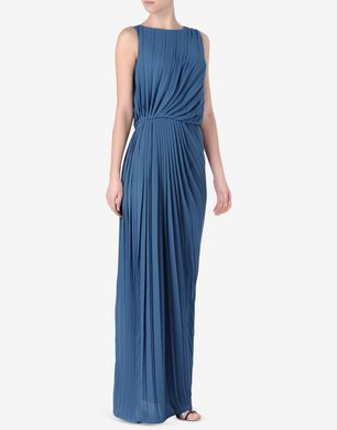 Maison Margiela Pleated full-length dress