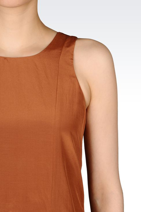 RUNWAY DRESS IN HABOTAI SILK: Short Dresses Women by Armani - 5
