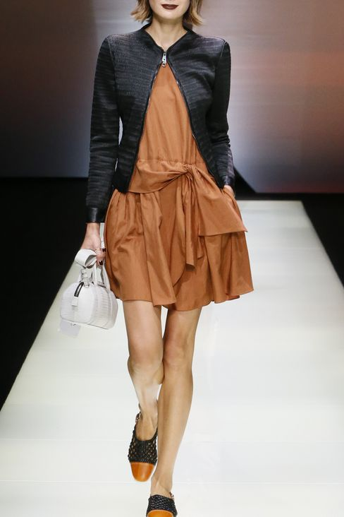 RUNWAY DRESS IN HABOTAI SILK: Short Dresses Women by Armani - 2