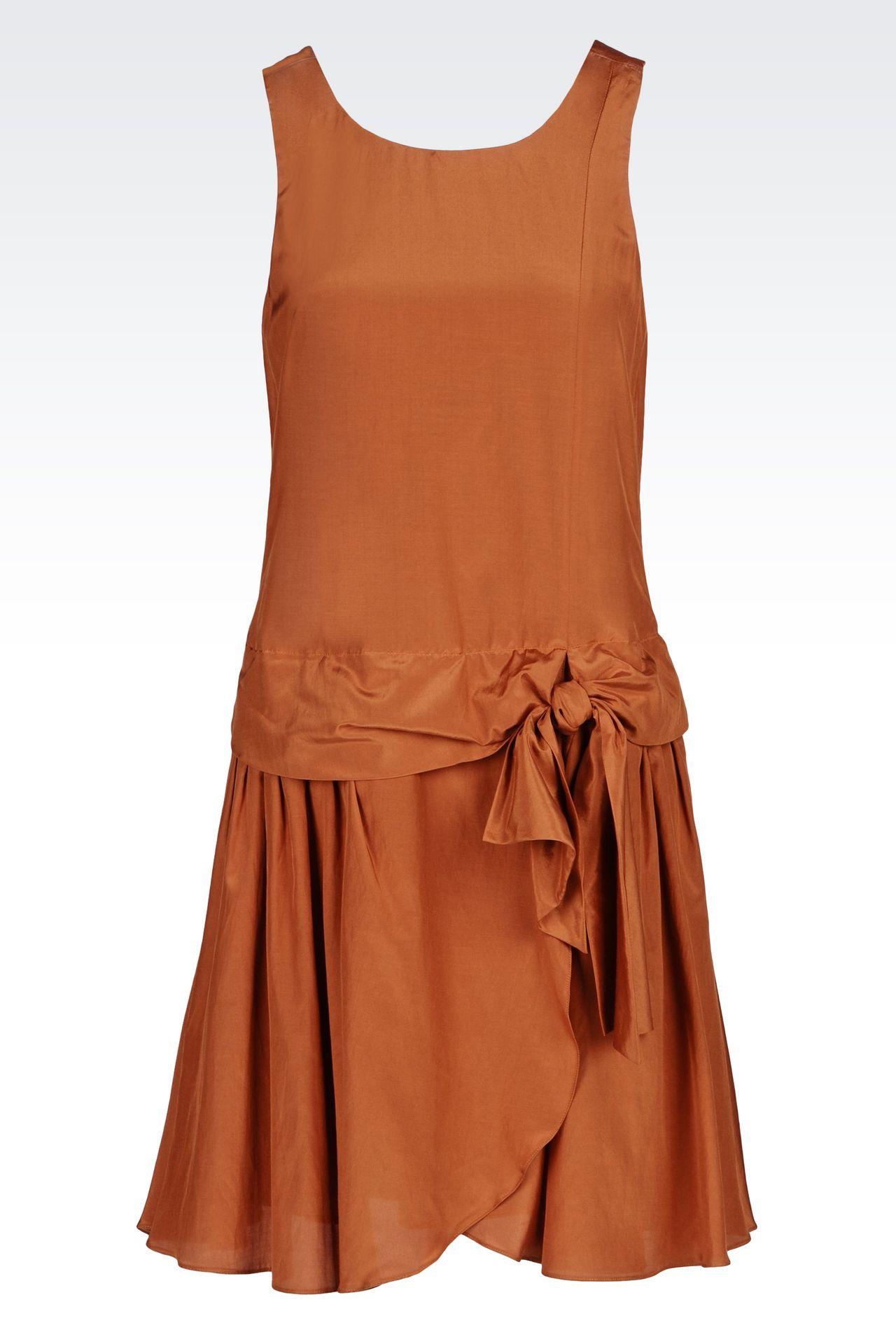 RUNWAY DRESS IN HABOTAI SILK: Short Dresses Women by Armani - 0