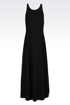 Armani Long dresses Women long viscose dress