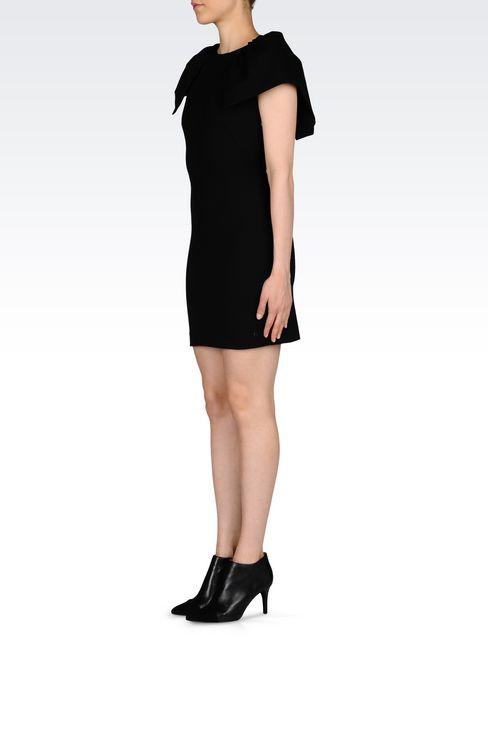 DRESS IN INTERLOCK: Short Dresses Women by Armani - 3