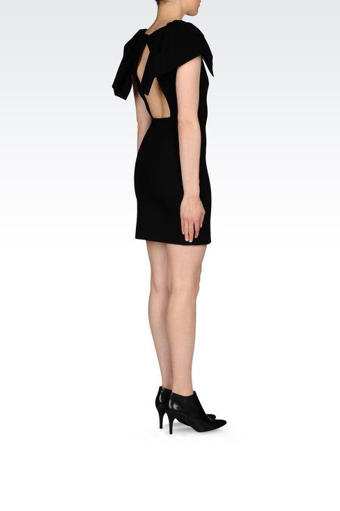 DRESS IN INTERLOCK: Short Dresses Women by Armani - 4