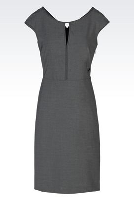Armani Short Dresses Women sheath in tropical wool
