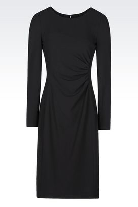 Armani 3/4 Length Dresses Women dress in crêpe