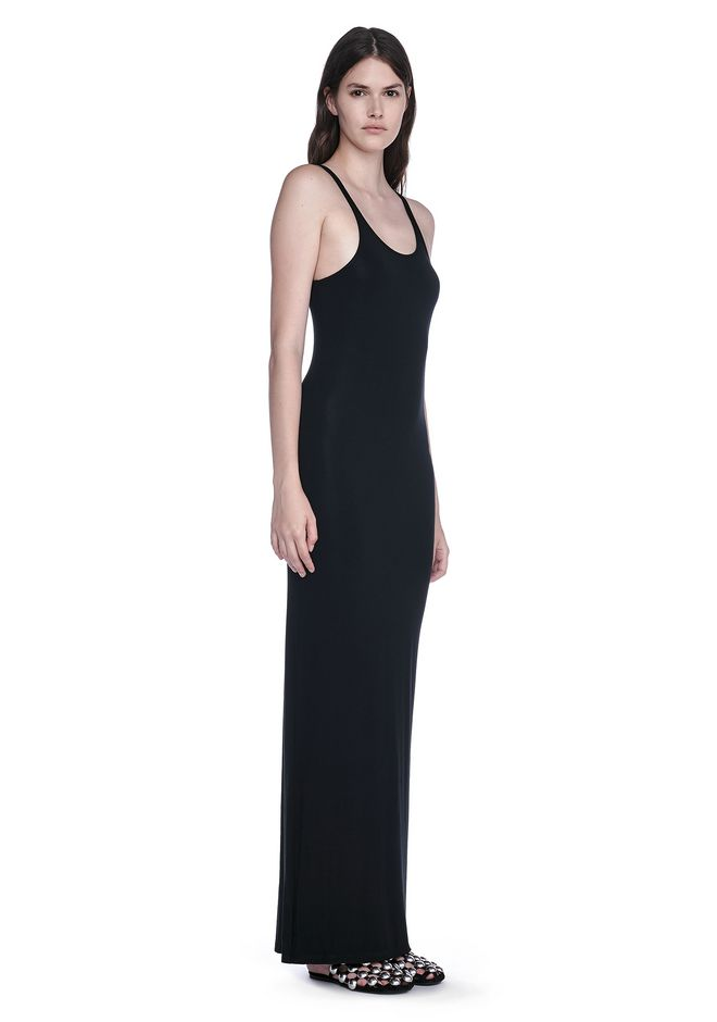T by ALEXANDER WANG 3/4 Length dresses Women MODAL SPANDEX LONG TANK DRESS