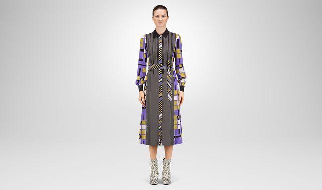 DRESS MULTICOLOR PRINTED CREPE DE CHINE