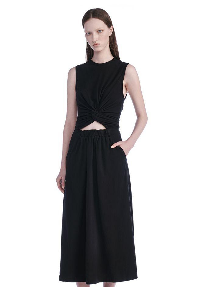T by ALEXANDER WANG Long dresses FRONT TWIST SLEEVELESS DRESS