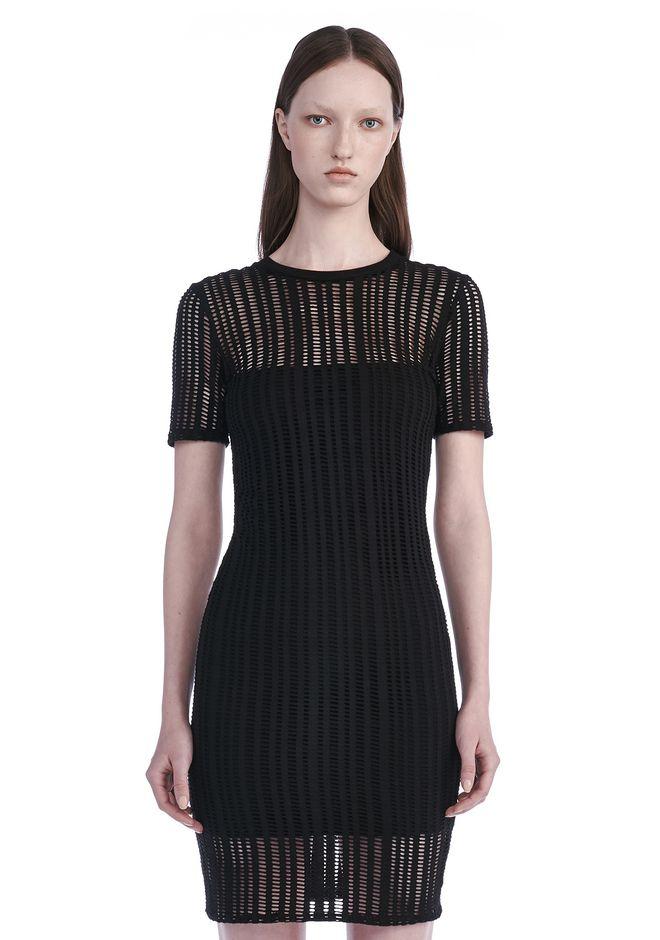 T by ALEXANDER WANG Short Dresses STRETCH JACQUARD SHORT SLEEVE DRESS