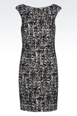 Armani Printed dresses Women sheath in stretch jacquard