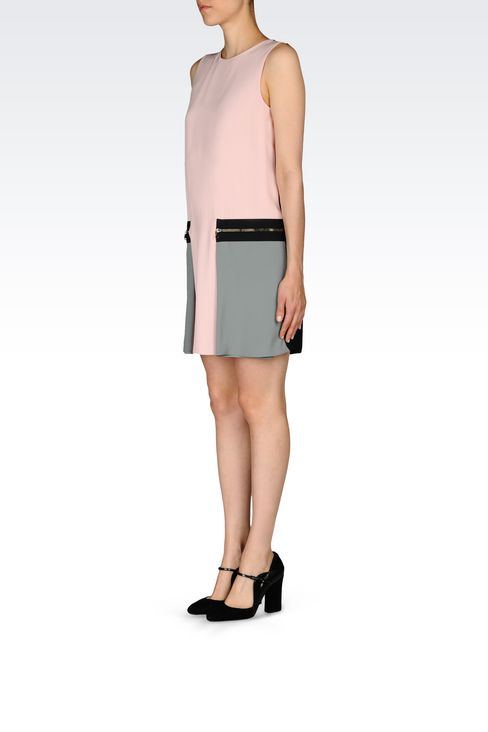 DRESS IN ENVERS SATIN: Short Dresses Women by Armani - 3