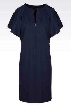 Armani Short Dresses Women dress in stretch wool
