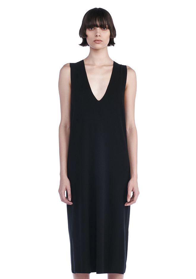 T by ALEXANDER WANG Long dresses DEEP V-NECK SLEEVELESS DRESS