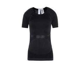 Black essentials mesh t-shirt