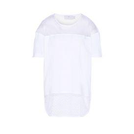 White essentials mesh t-shirt