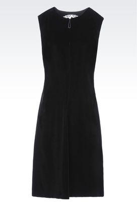 Armani Dresses Women runway dress in velvet