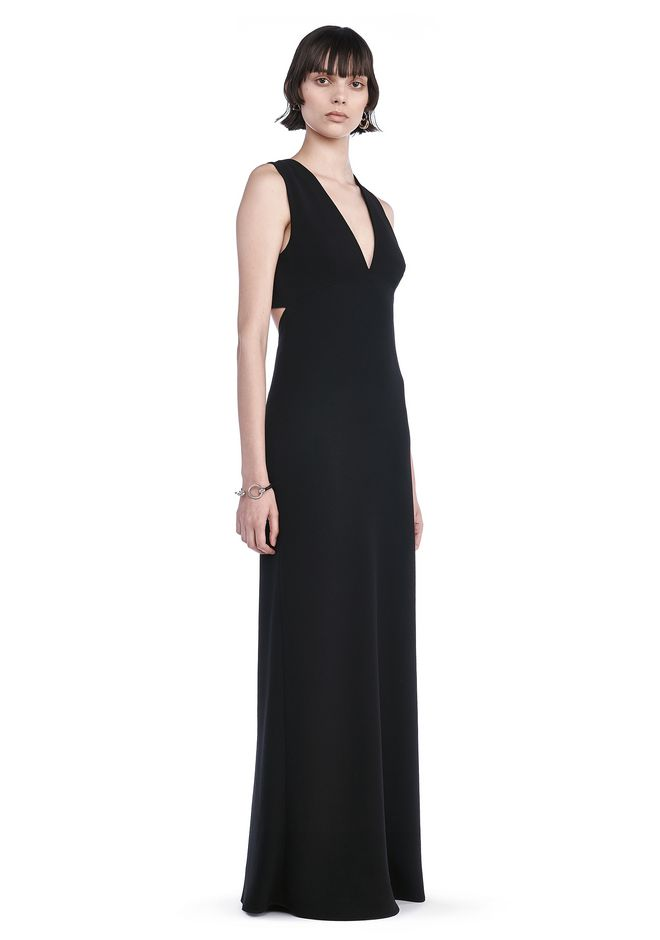 T by ALEXANDER WANG Long dresses Women POLY CREPE MAXI DRESS WITH EXPOSED BACK