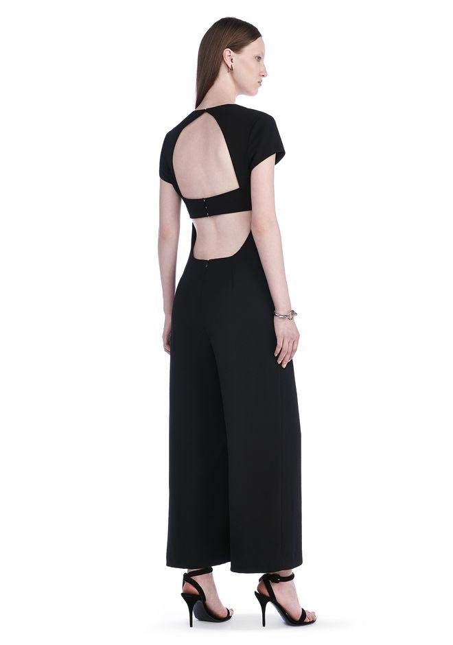 T by ALEXANDER WANG Long dresses Women POLY CREPE OPEN BACK PANT ROMPER