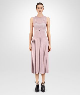 DRESS IN ROSE BOUVARD SOFT LUREX WOOL