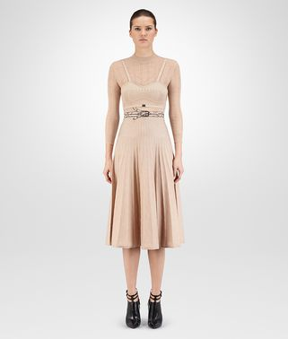 DRESS IN MINK LUREX WOOL