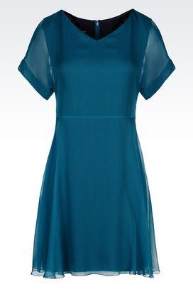 Armani Short Dresses Women dress in chiffon