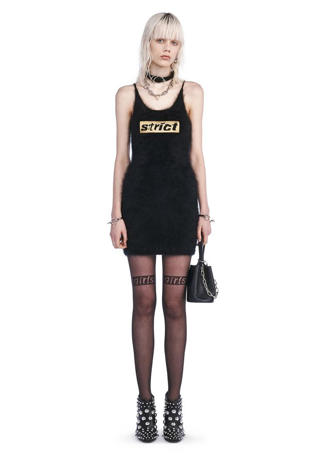 ALEXANDER WANG Short Dresses CAMI DRESS WITH STRICT EMBROIDERY