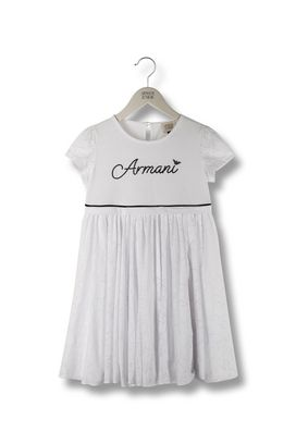 Armani Dresses Women burnt-out jersey dress with signature logo