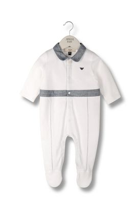 Armani Romper suits Men all-in-one with collar and contrast leg and waist details