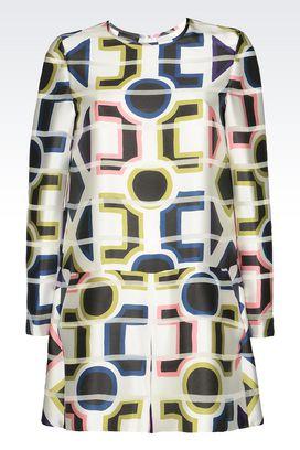 Armani Short Dresses Women runway jumpsuit in pekin fabric
