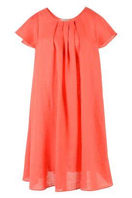 Armani Vestiti corti Donna abito in lino girocollo