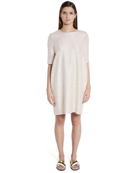 lanvin lamé dress women