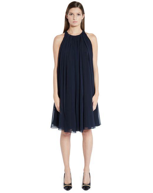 lanvin silk chiffon dress women