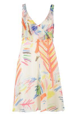 Armani Short Dresses Women printed organza dress
