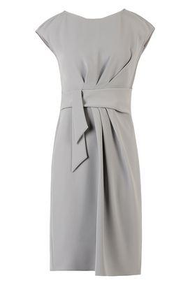 Armani Vestiti corti Donna vestito in georgette con cintura in tessuto