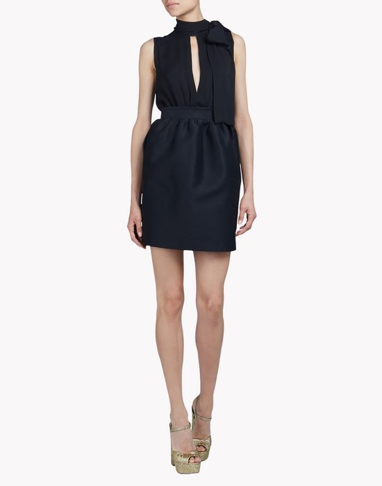 wool silk fallon dress dresses Woman Dsquared2