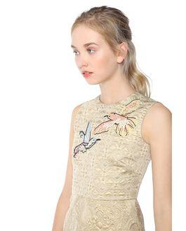 REDValentino Hummingbird Embroidered Brocade Dress