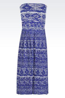 Armani Vestiti Donna tuta in ottoman jacquard con pantaloni in plissè