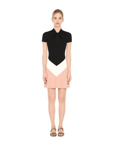 REDValentino OPTICAL INTARSIA KNIT DRESS