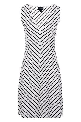 Armani Jersey dresses Women striped stretch jersey dress