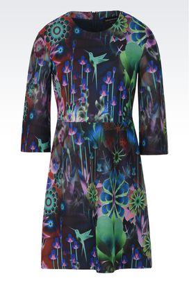Armani Vestiti corti Donna abito a tulipano in felpa