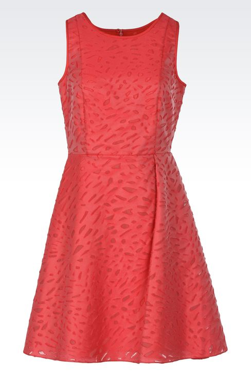 Jacquard dress with duchesse inserts : Short Dresses Women by Armani - 1